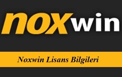 Noxwin Lisans bilgileri